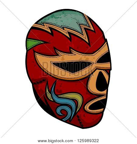 Vector Artistic Vintage Lucha Libre Mask Illustration