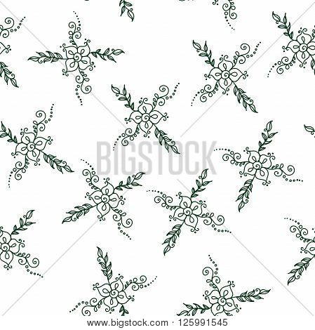 Seamless flower pattern. Stock background for design