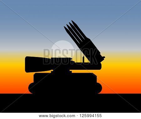 illustration missile launchers for anti-security of territories