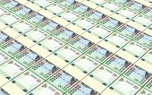 Indonesian rupiah bills stacks background. 3D illustration. poster