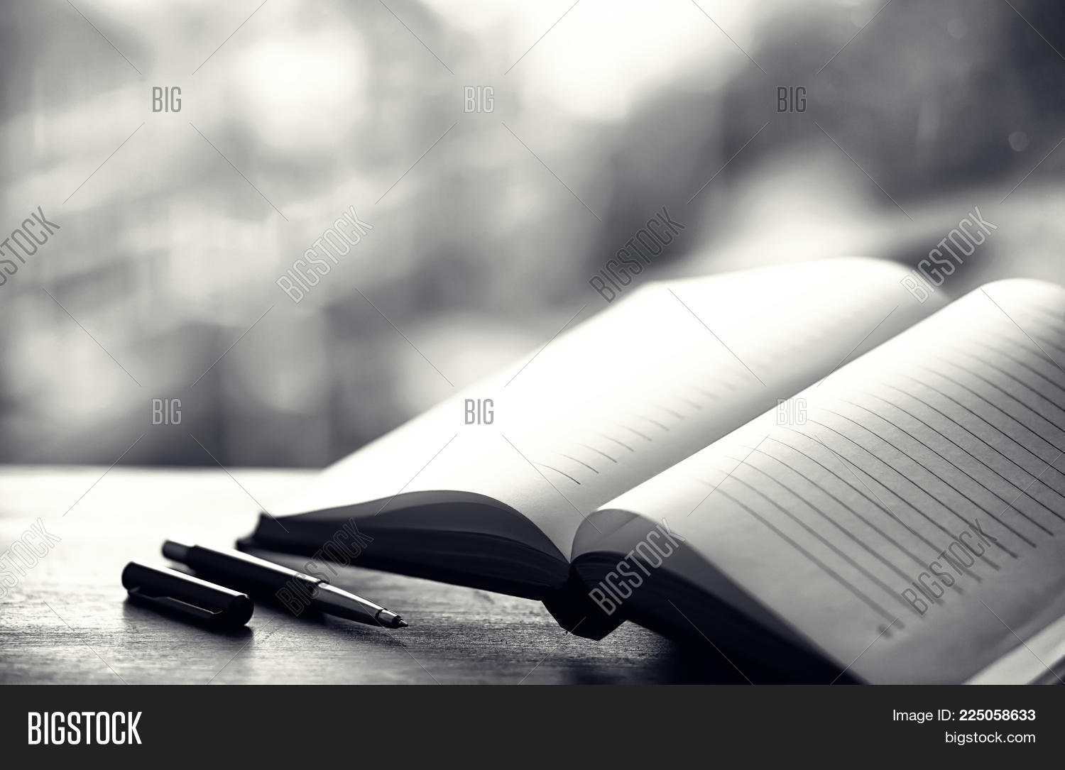 Open Book And A Table Powerpoint Template Open Book And A Table