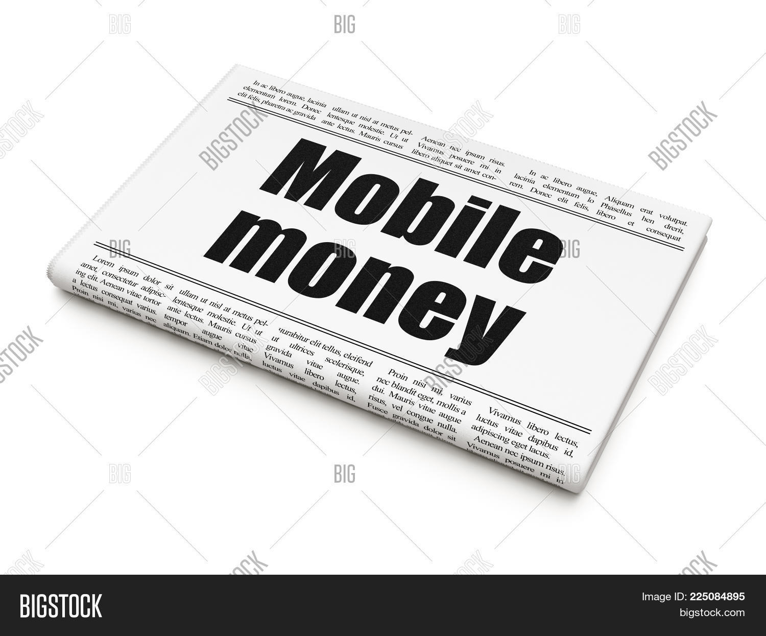 Announcement Banking Concept Newspaper Powerpoint Template