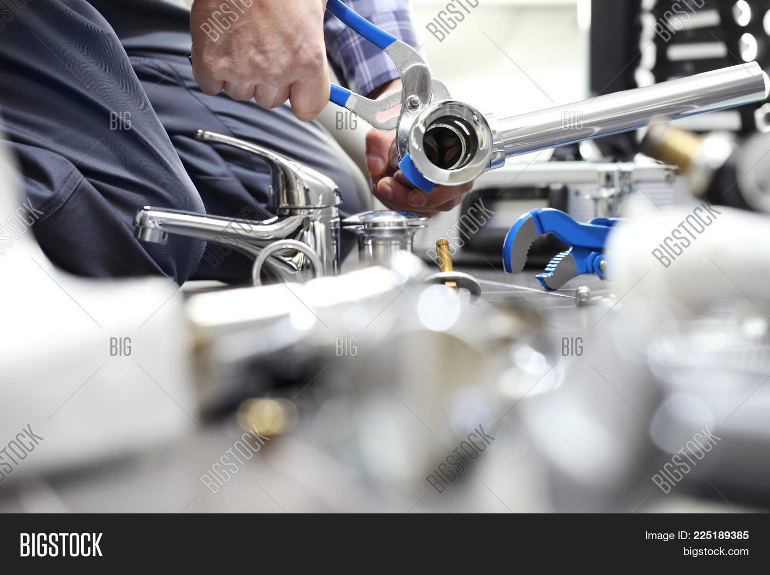 Hands Plumber Work Image & Photo (Free Trial) | Bigstock