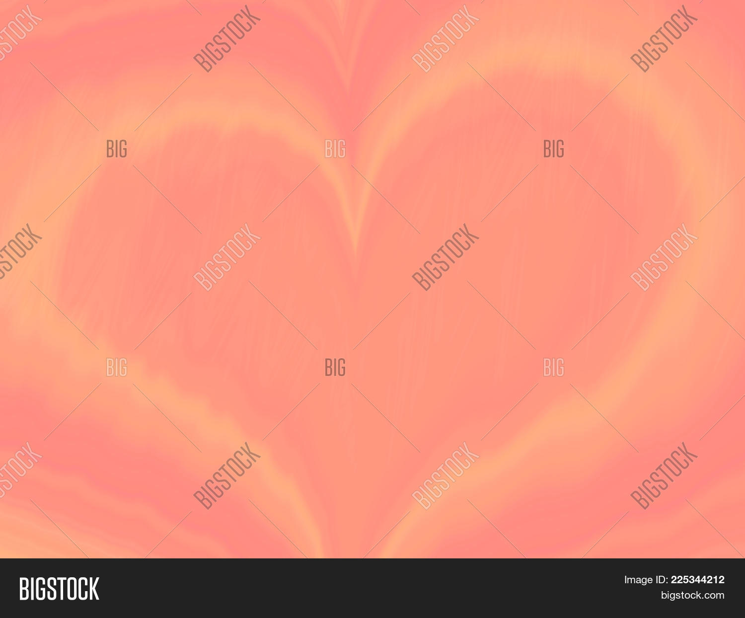 Abstract Orange Yellow Heart Love Pattern St Valentines day pastel peach gradient background Tender holiday wallpaper