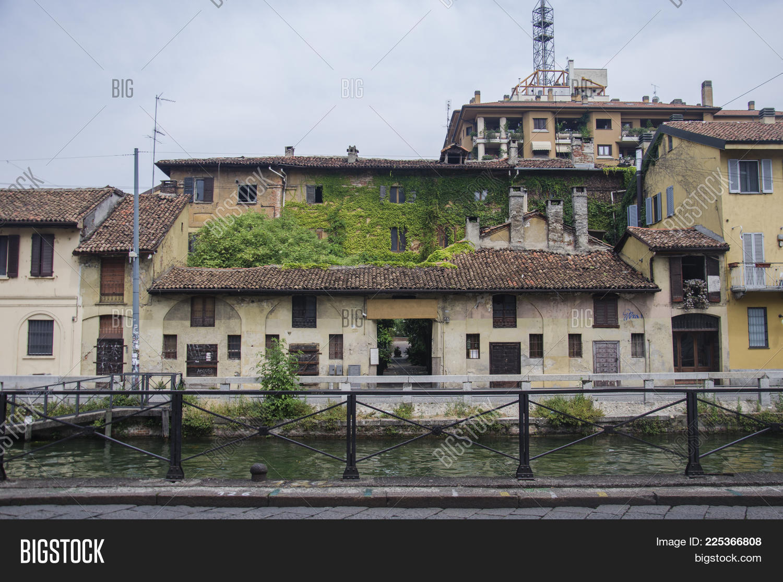 Naviglio Grande Canal Image Photo Free Trial Bigstock