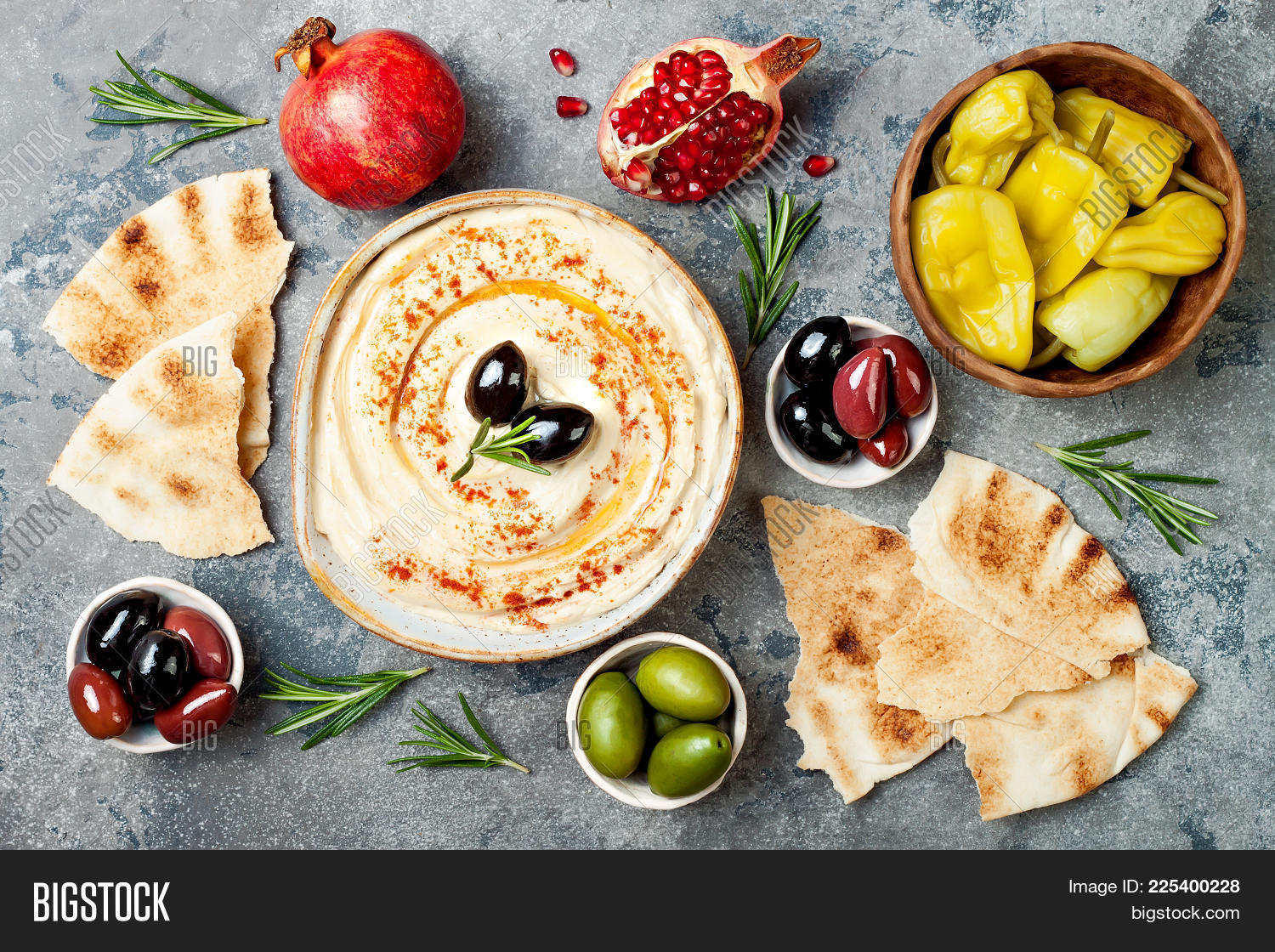 homemade hummus paprika, olive oil image & photo | bigstock