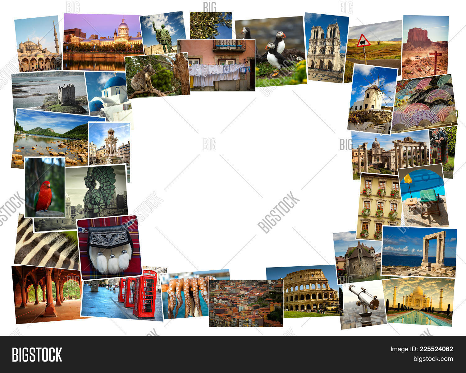 collage from fabulous powerpoint background powerpoint template