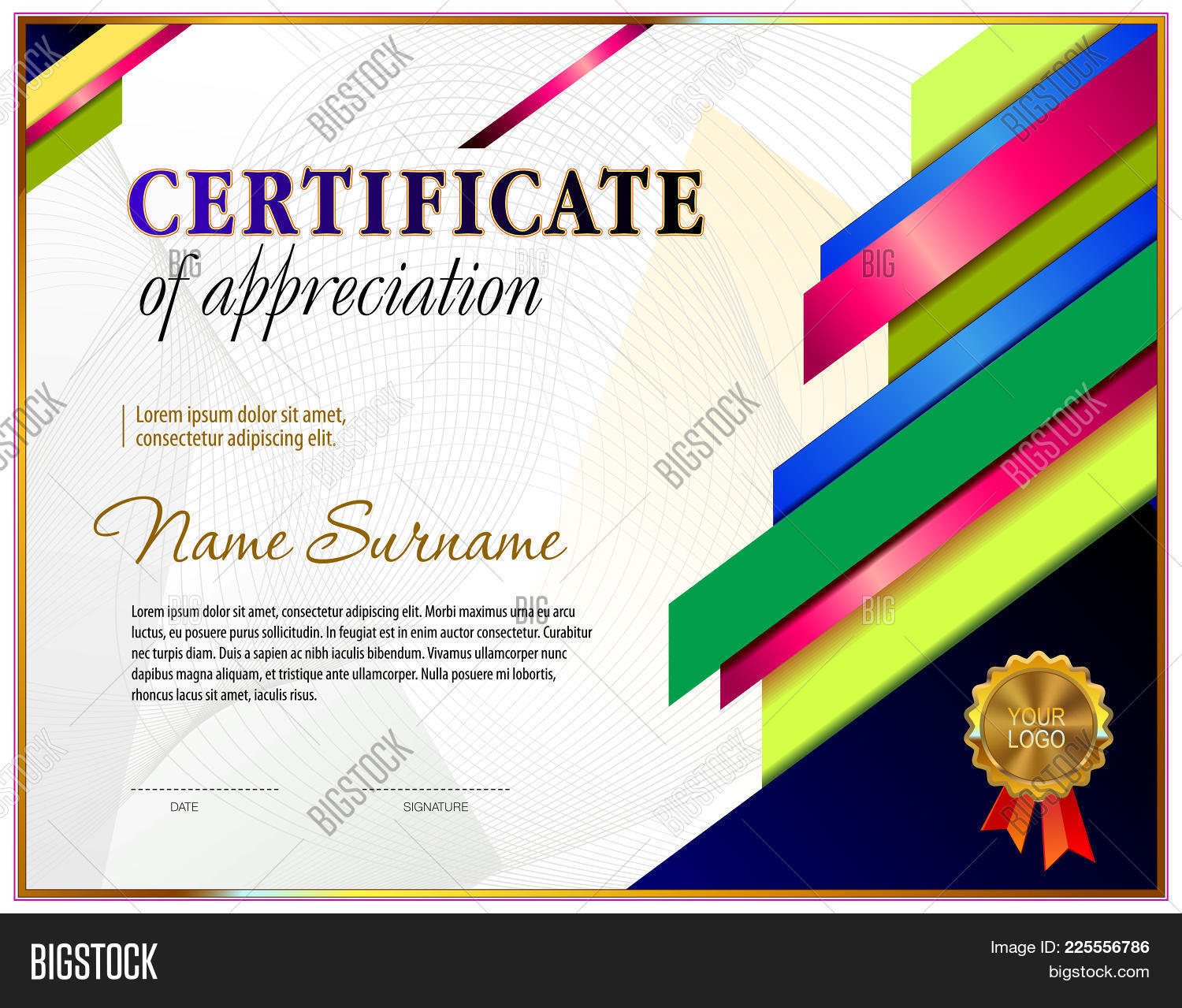 Certificate Of Appreciation Powerpoint Template Powerpoint Template