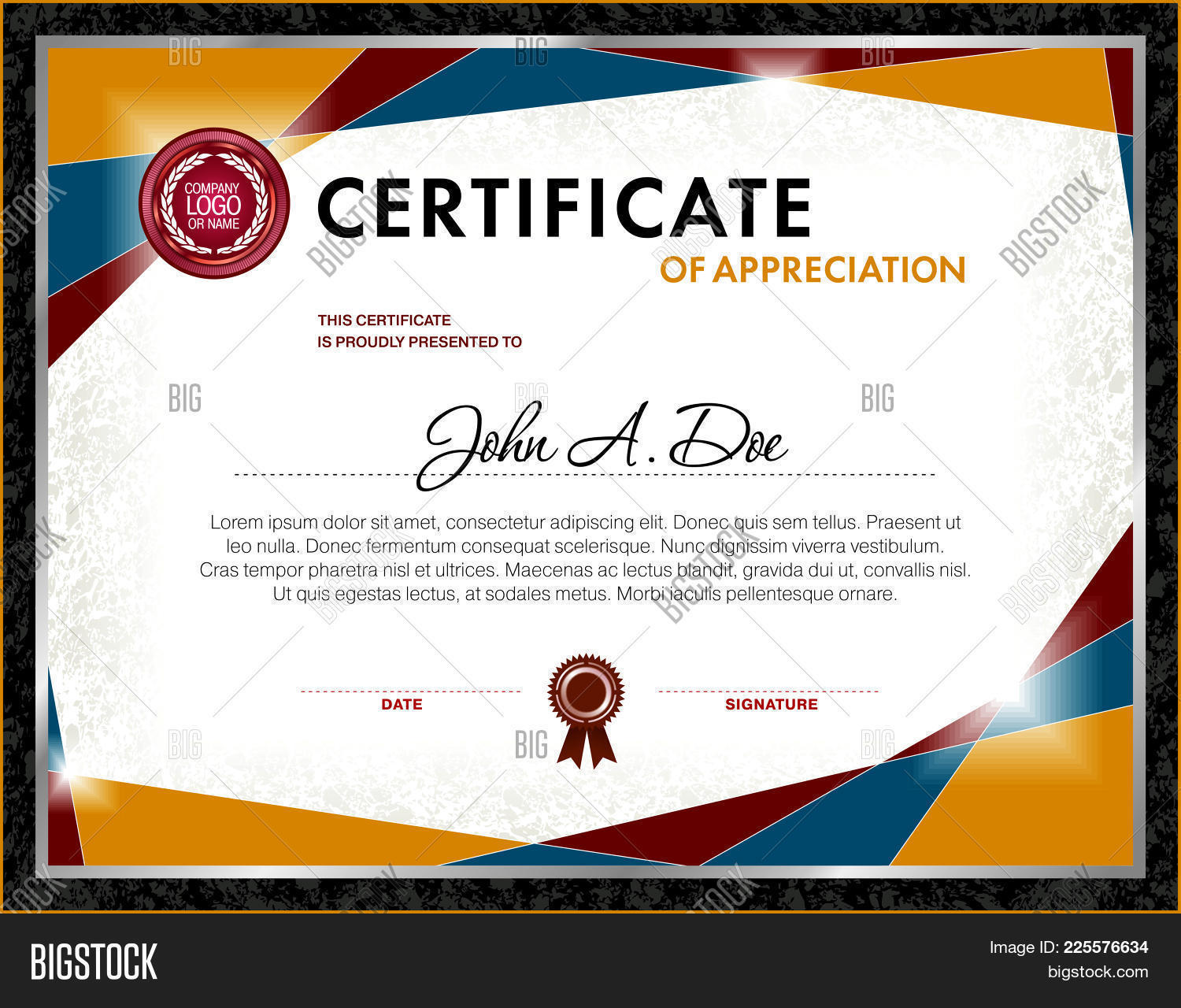 Certificate Of Appreciation Powerpoint Template Certificate Of