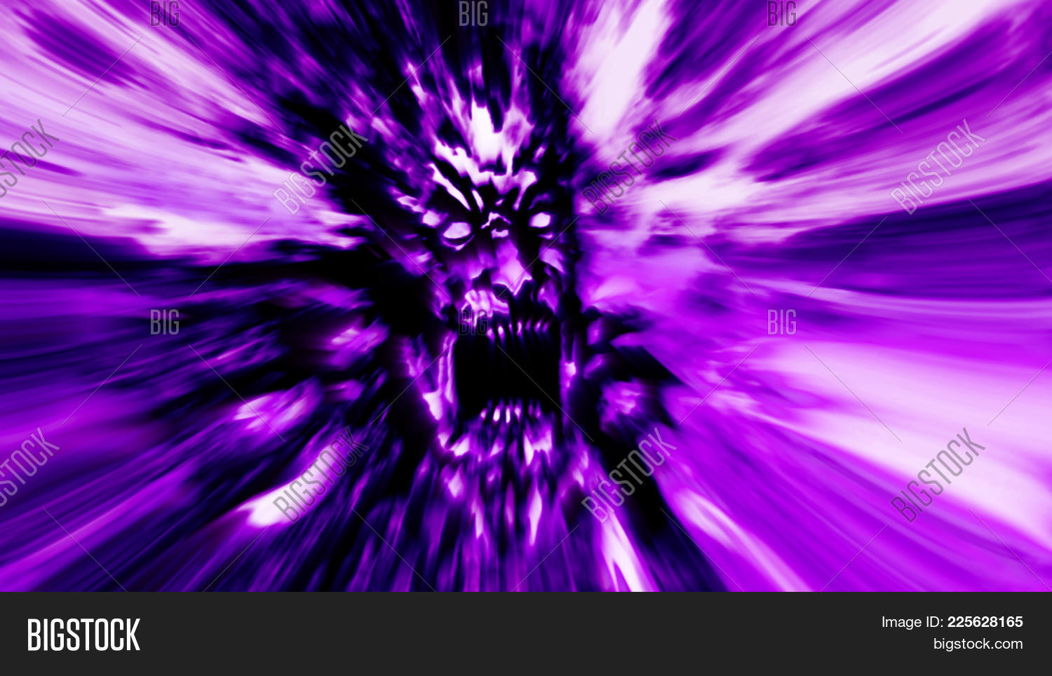 Rage Zombie Powerpoint Template PowerPoint