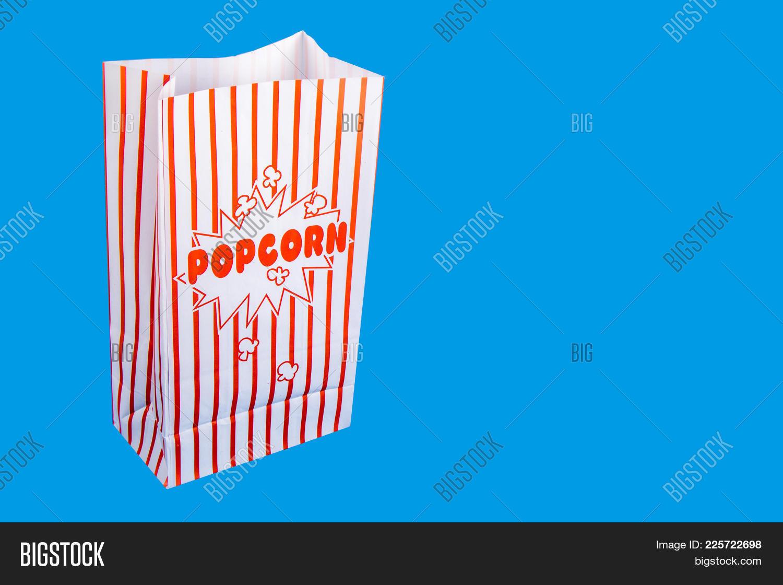 Concept Bag Popcorn Cinema PowerPoint Template
