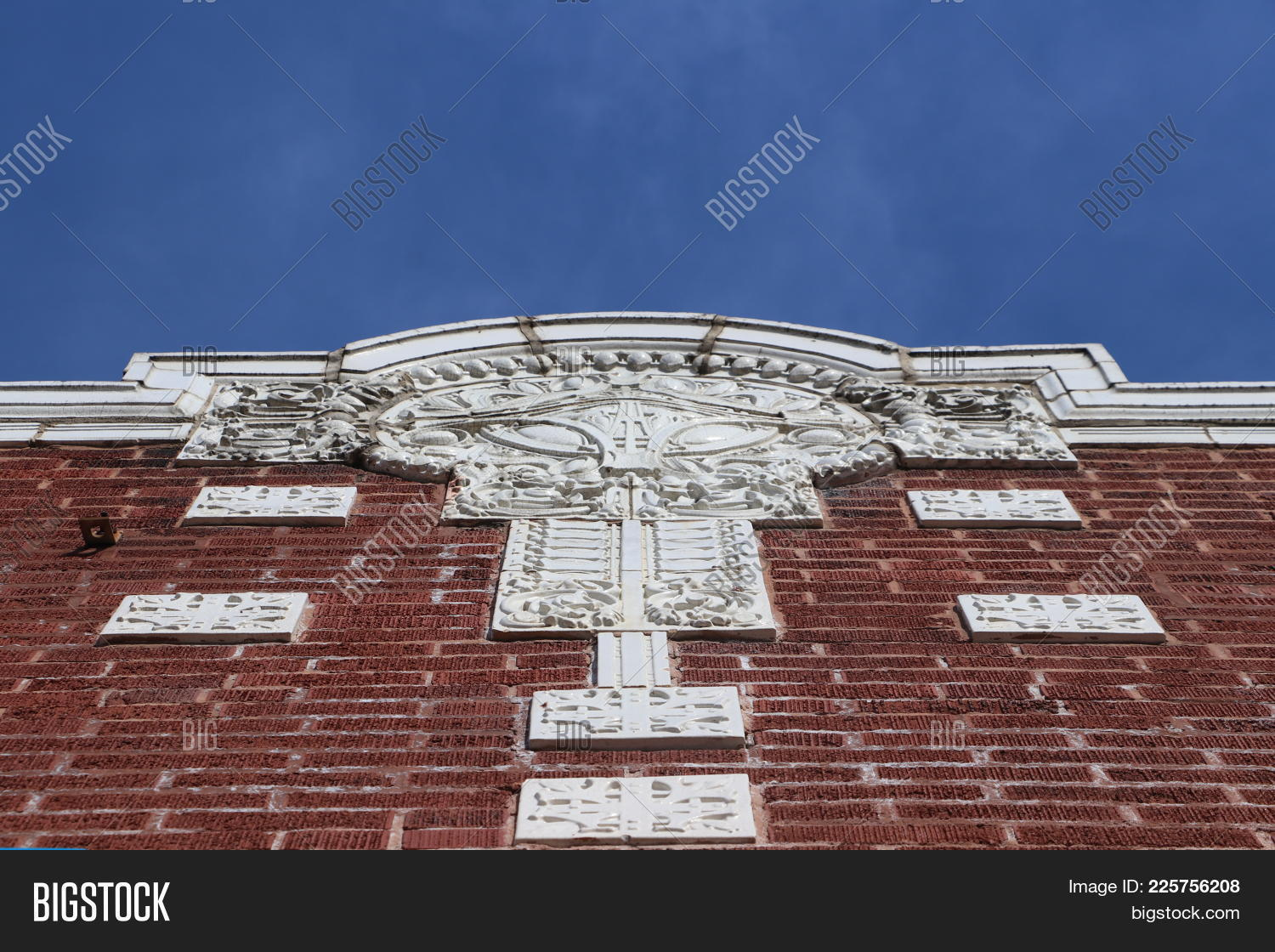 Looking up at a brick powerpoint template powerpoint template p toneelgroepblik
