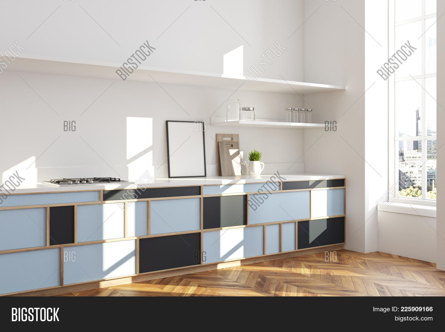 Hardwood interior white kitchen powerpoint template hardwood y toneelgroepblik Choice Image