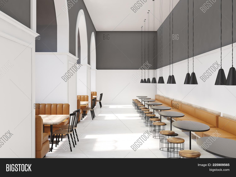 Decoration interior modern cafe PowerPoint Template - Decoration ...
