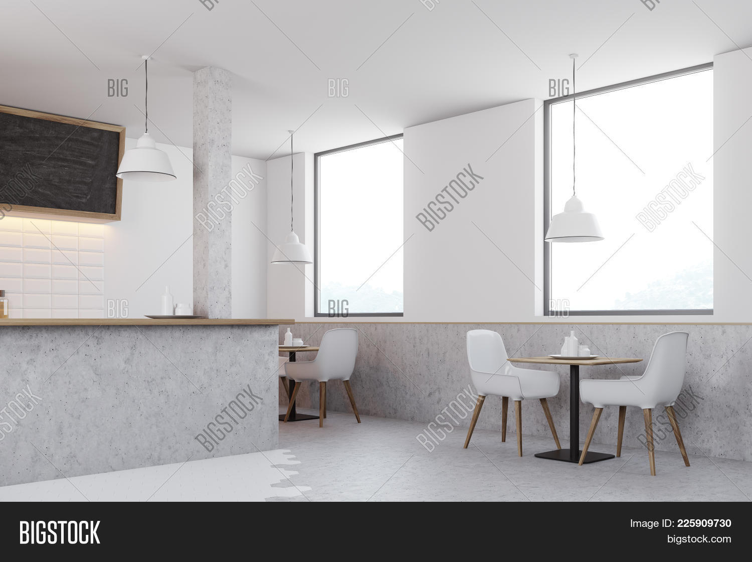 Gray cafe PowerPoint Template - Gray cafe PowerPoint Background
