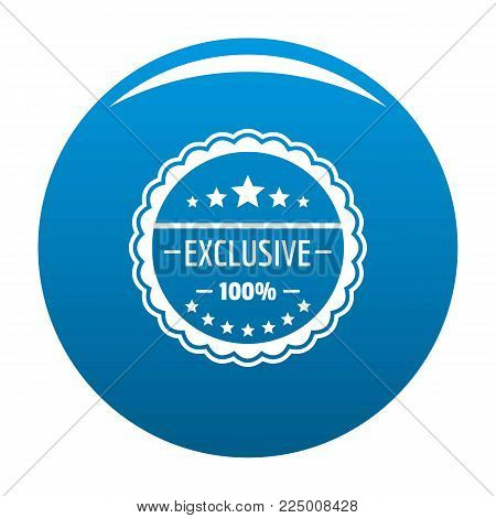 Exclusive logo. Simple illustration of exclusive vector logo for web