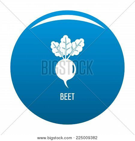 Beet icon vector blue circle isolated on white background
