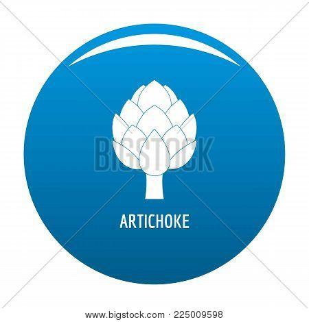 Artichoke icon vector blue circle isolated on white background