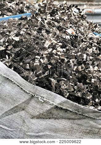 Metal waste on a recycling site
