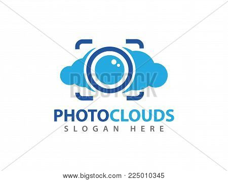 Vector Photo Cloud Online Cloud Storage Logo Design
