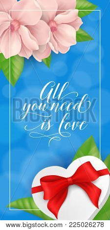 All you need love lettering saint vector photo bigstock all you need is love lettering saint valentines day greeting card with flowers and gift m4hsunfo Gallery