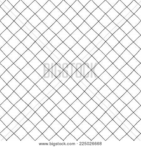 Seamless pattern. Large diagonal cells of hand-drawn.