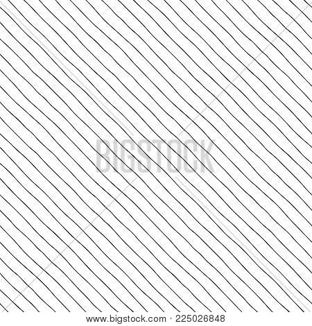 Seamless pattern. Thin diagonal lines with a small gap, hand-drawn.