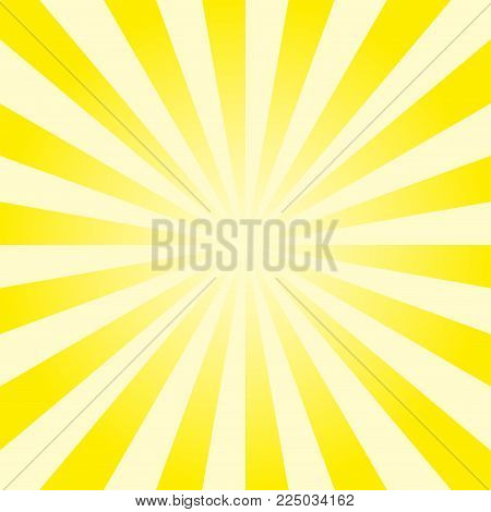 Divergent Rays Background. Sun Rays. Vector Illustration.