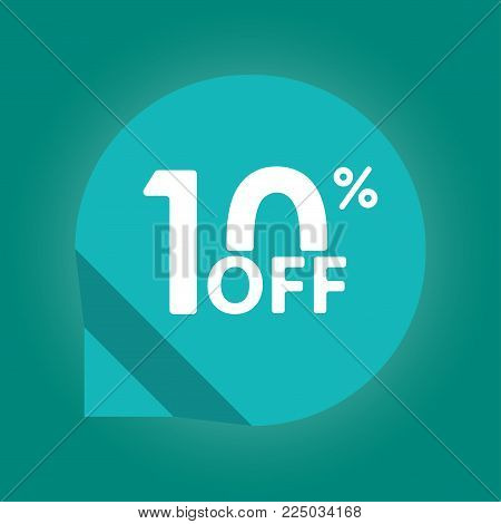 10% Off. Sale And Discount Tag With 10 Percent Price Off Icon. Vector Illustration.