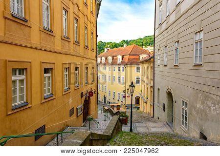 Prague street. Lesser Town, Prague, Czech Republic - Bohemia