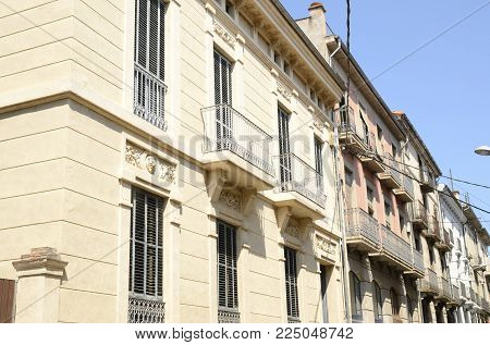 Balcony In Old Building