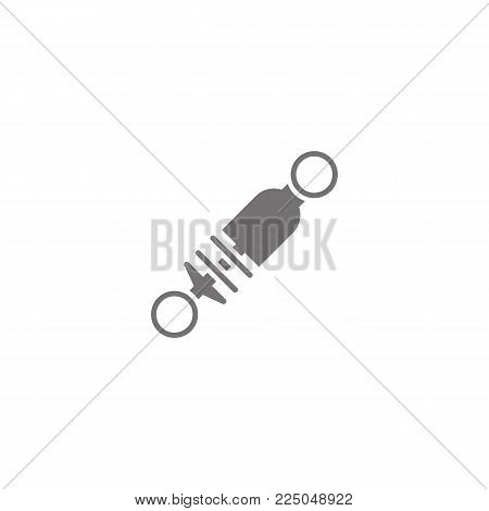 Shock absorber vector icon on white background