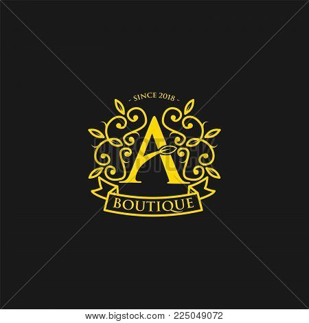 Vintage old style logo icon monogram. Letter A logo. Royal hotel, Premium boutique, Fashion logo, Super logo, VIP logo. A letter logo, Premium quality logo, Lawyer logo. A letter logo icon eps8,eps10