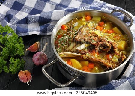 Tasty Icelandic Lamb Winter Hot Soup