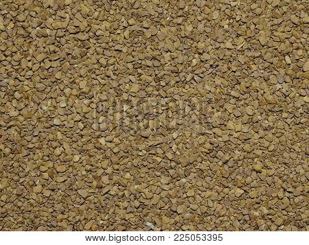 Background, texture, natural instant coffee in granules. Soft coffee color