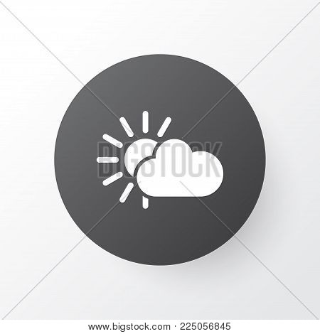 Sunshine icon symbol. Premium quality isolated overcast element in trendy style.