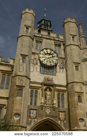 Clock Tower Great Court Trinity College Cambridge England