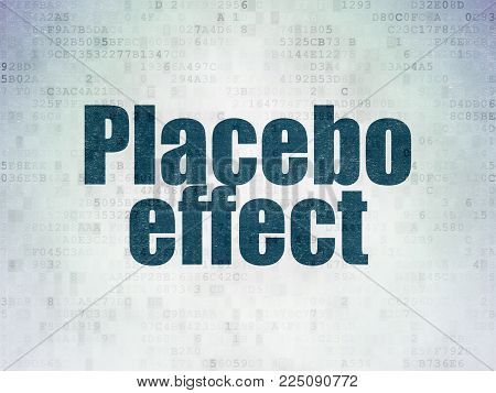 Healthcare concept: Painted blue word Placebo Effect on Digital Data Paper background