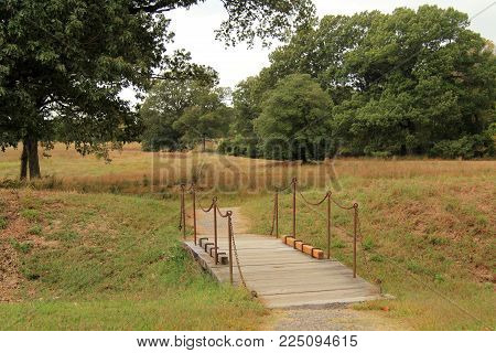 Footbridge At The Yorktown Battlefield, Colonial National Historical Park, Virginia