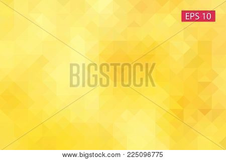 Yellow Abstract Geometric Background, Vector From Polygons, Triangle, Vector Illustration, Vector Pa
