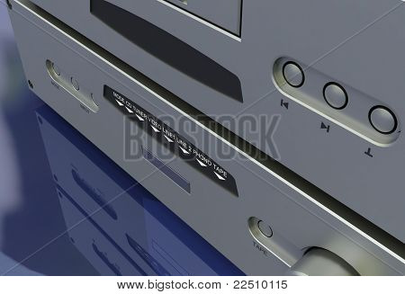 Audio system system on a mirrored background