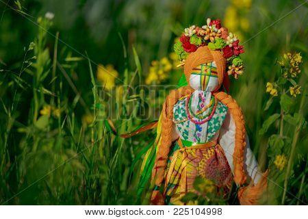 Ukrainian Doll-motanka Or Rag Doll. Stuffed Toys. Handmade Texti