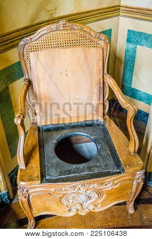 Chaise Percee Toilet Chair In A Castle In France
