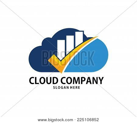 Vector Finance Goal Check Mark Cloud Online Cloud Storage Logo Design