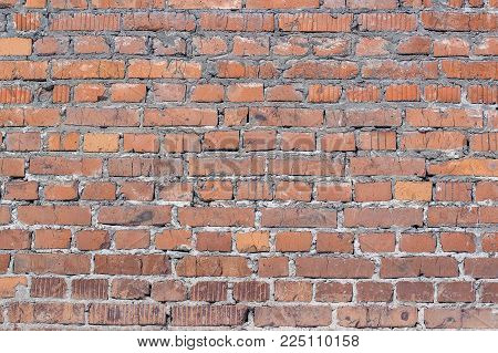 Surface Texture Of Old Brick Wal,  Background.