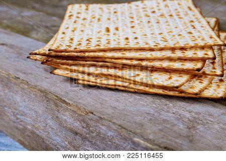 Matza bread for passover celebration Jewish holiday, Holiday symbol, Jewish Holiday symbol