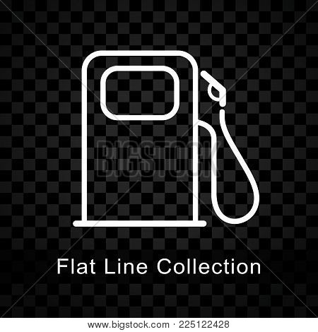 Illustration of fuel pump icon on checkered background