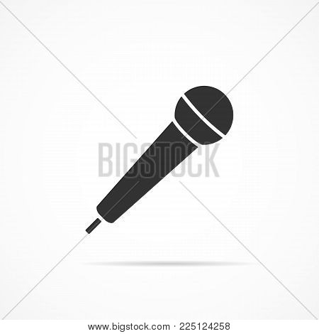 Vector image of the microphone icon on a gray background.