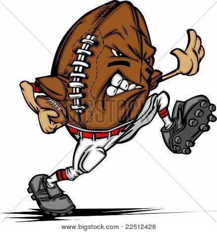 American Football Ball Spieler Cartoon