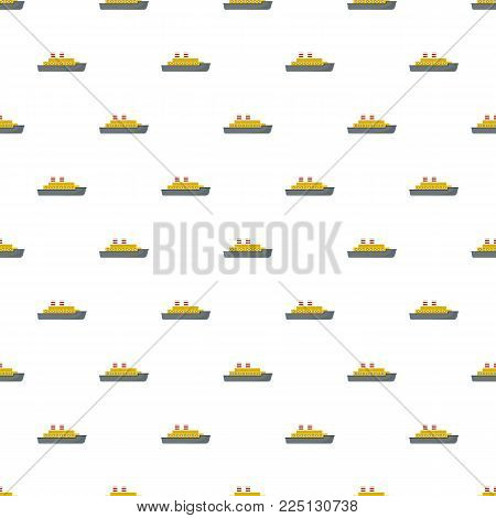 Steamship pattern seamless in flat style for any design